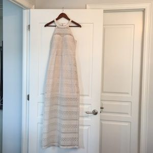 Guess crochet maxi dress with side split.